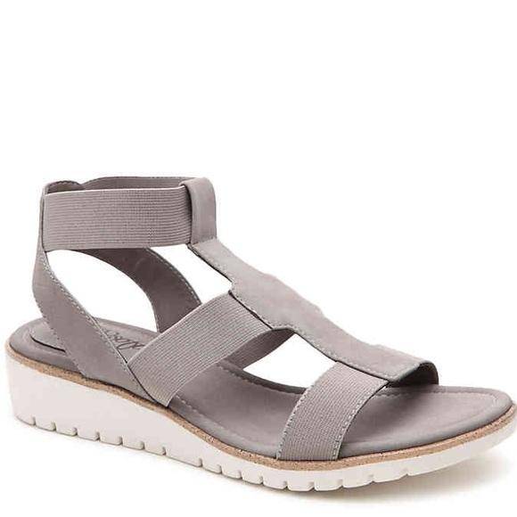 d218411be860 Eurosoft Shoes - EuroSoft Grey Leather Wedge Sandals